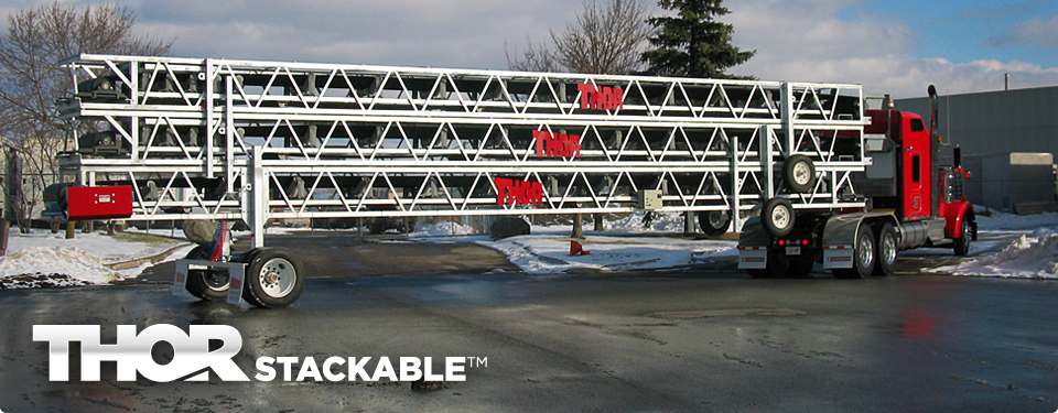 THORSTACKABLE™ Stackable Portable Transfer Conveyors