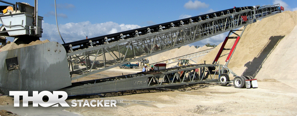 THORSTACKER™ Telescopic Portable Radial Conveyor