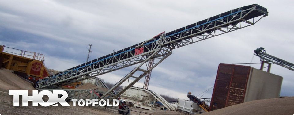 THORTOPFOLD™ Top Fold Portable Radial Conveyor