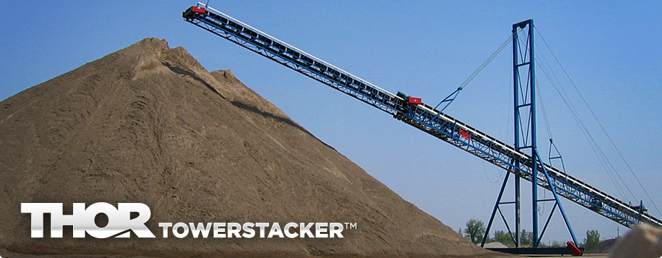THORTOWERSTACKER™ Telescopic Cable Mast Conveyor